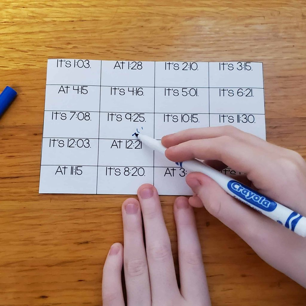 spanish game to practice telling time in spanish