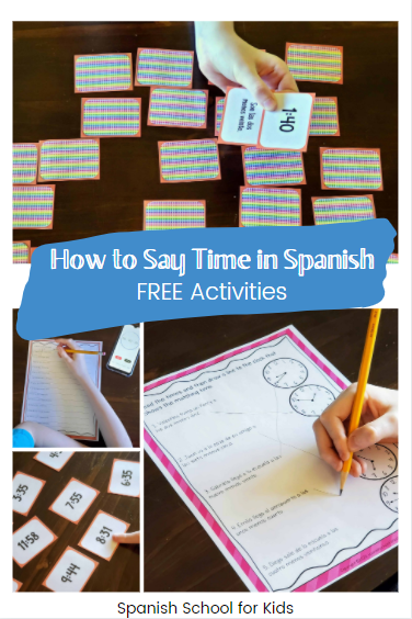 how to say time in spanish listening and reading activities