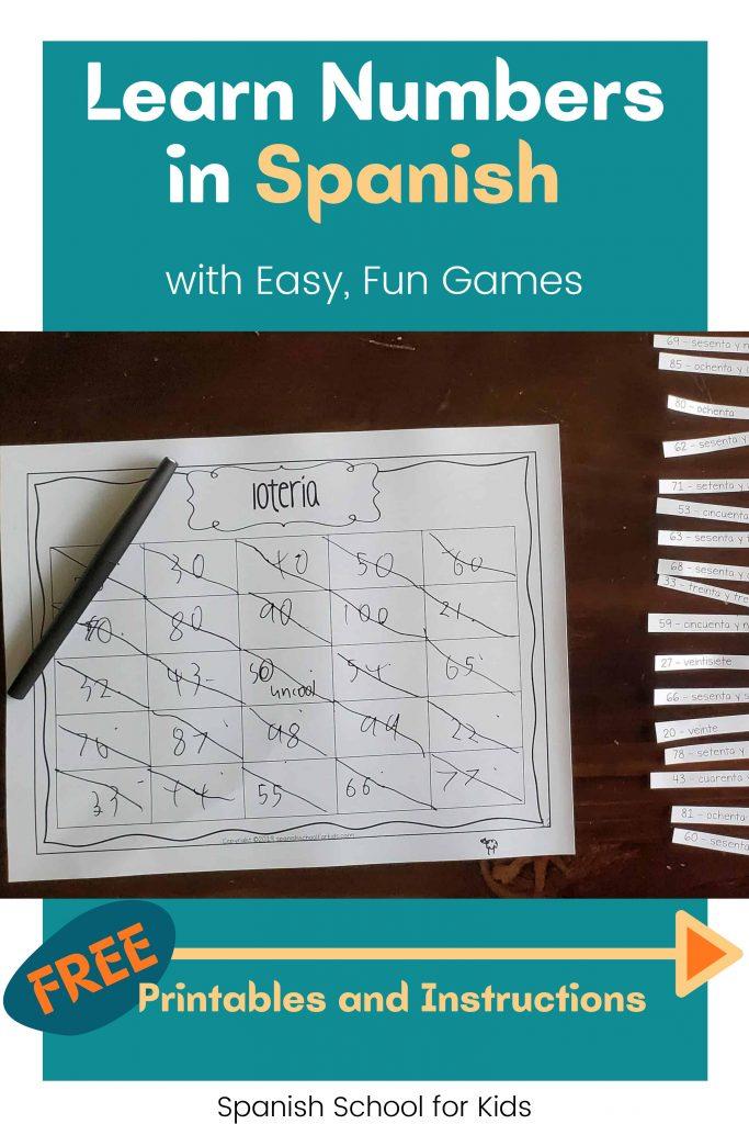 picture of spanish game bingo