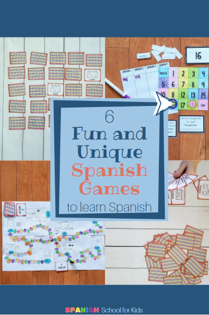 pictures of Spanish games to practice Spanish vocabulary