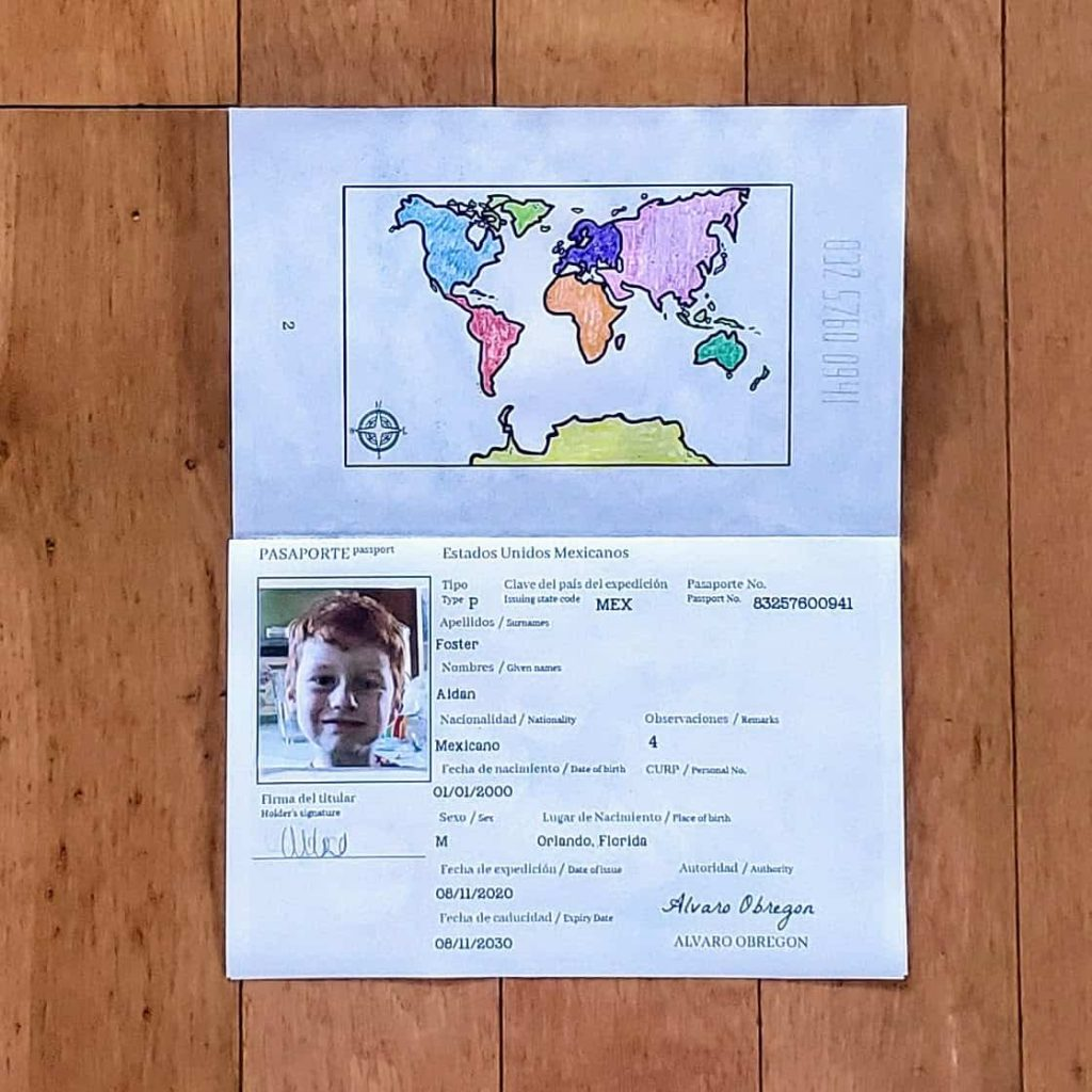 personal info page inside passport activity