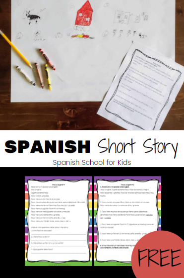 picture of spanish story printables and drawings of story