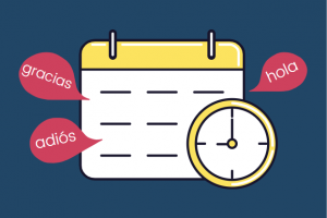 image of clock and calendar