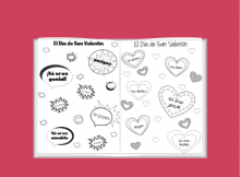 spanish valentine coloring pages