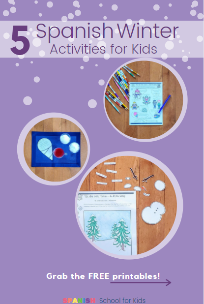 pin for 5 Spanish winter activities for kids