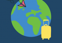 image of world and suitcase
